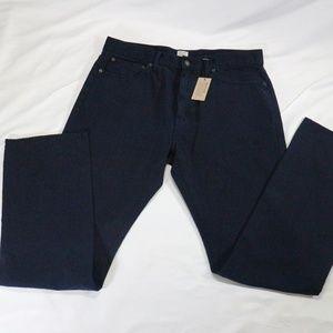 NWT J. CREW Vintage Slim Straight Navy Jeans 34x34